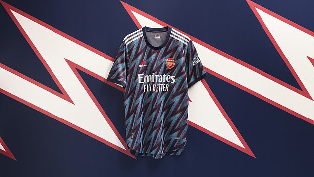 Arsenal have launched their new 'mystery blue' third strip for the forthcoming season
