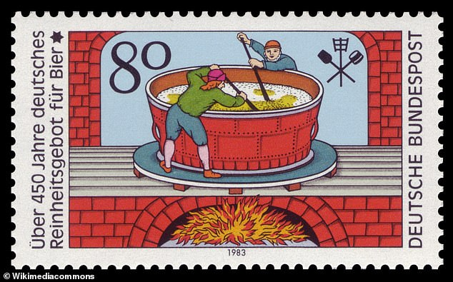 Stamp issued in 1983 celebrating the history of the Reinheitsgebot, commemorating its 450th anniversary.While no longer actual law, the Reinheitsgebot is still regarded as an important tradition and for many brewers a guideline on how German beer ought to be made