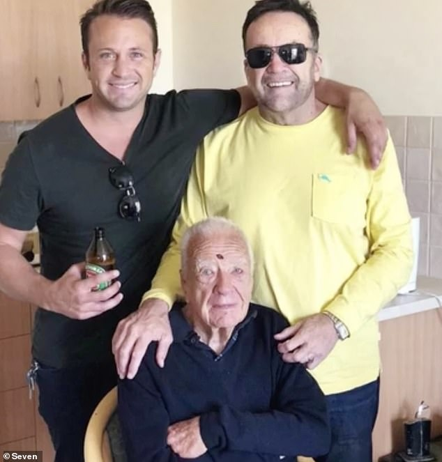 Devastating: Matt's grandfather Brian George Doran died in Melbourne last week at the age of 99. He was forced to say goodbye to him over FaceTime due to travel restrictions
