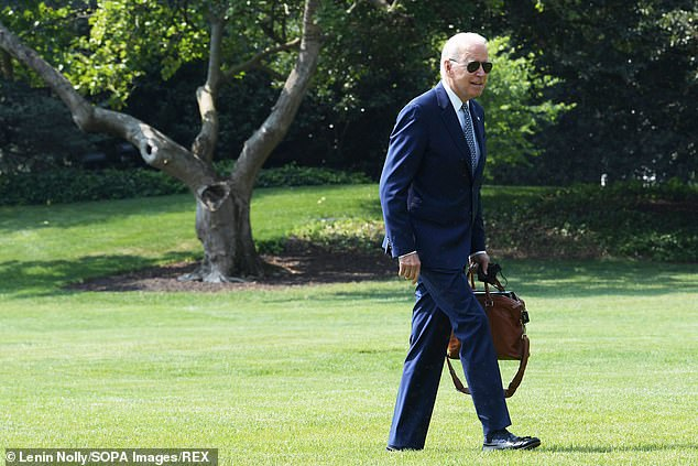 In Biden's latest bizarre gaffe, the president was filmed returning to the White House after spending time in Wilmington, Delaware