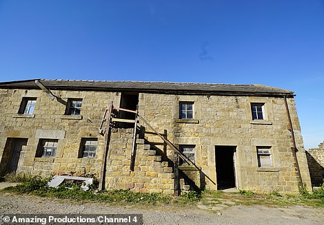 Using money from her inheritance, they decided to buy the barn for £400,000 (pictured). They restore the barn and rebuild the dilapidated section at one end to create a trendy modern extension