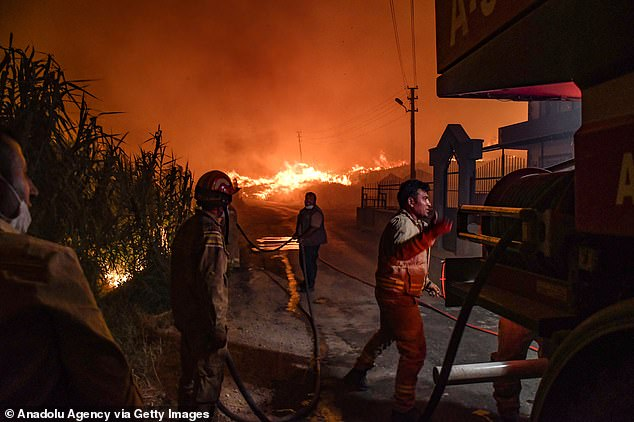 TURKEY: Firefighters are still working to extinguish wildfires in Mugla province, an area popular with tourists that runs along the Aegean Sea