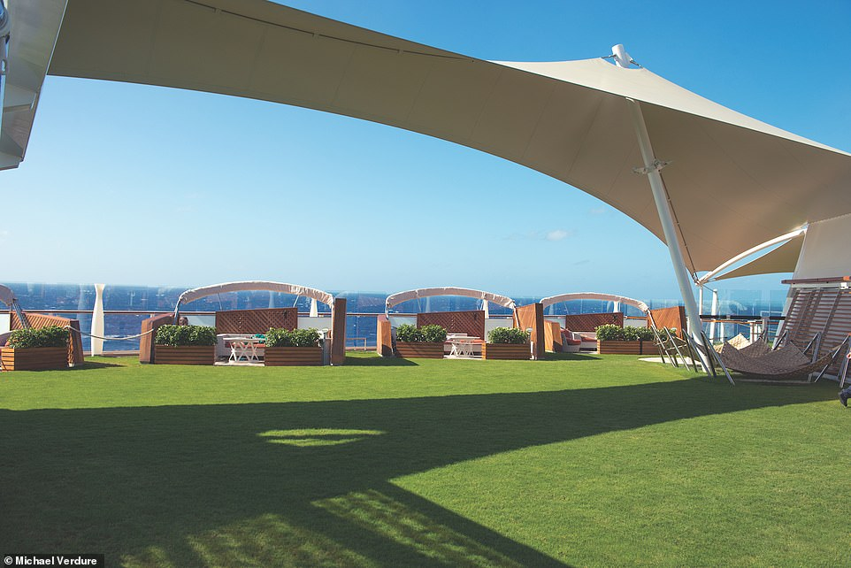 Holidaymakers can picnic and play games on the luxuriant real-grass lawn, which is a distinguishing feature