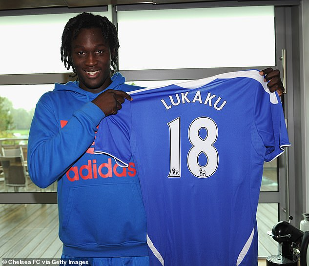 Lukaku is set to complete a £98m return to Chelsea, ten years after first joining (above)