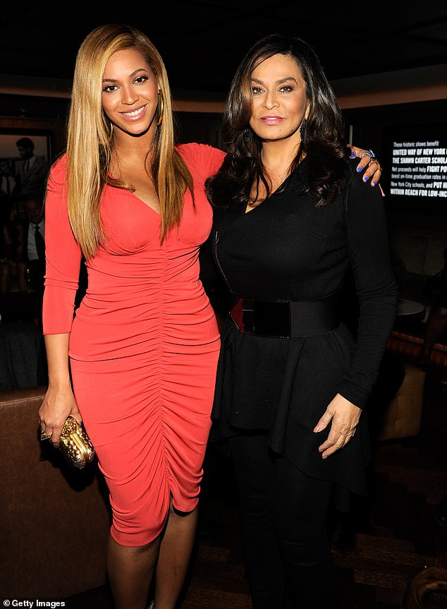 Tragedy: Knowles, 67, revealed that Adams died Tuesday night from complications due to coronavirus that had caused him to have kidney failure (photo with Beyonce in 2012)