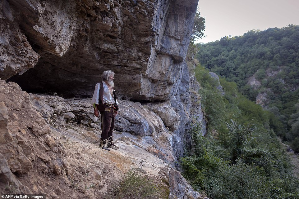 Panta Petrovic, 70, only discovered there was a pandemic when he ventured out of his tiny mountain cave home and visited the nearby town of Pirot last year