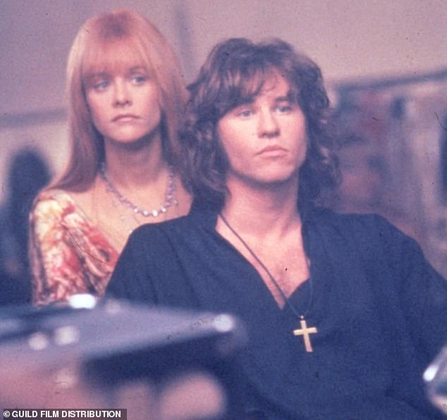 Val Kilmer as Jim Morrison and Meg Ryan as Pamela Courson in the 1991 movie 'The Doors' - a film about musician and Doors frontmanJim Morrison