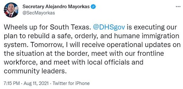 Mayorkas previewed on Wednesday his trip to the southern border in Texas