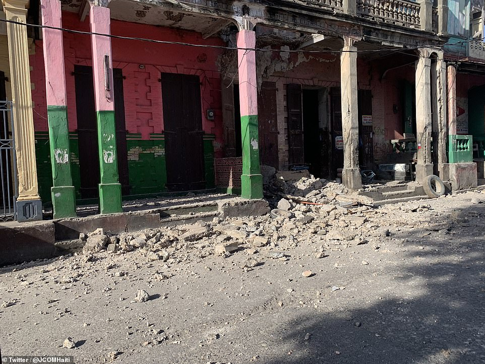 The quake had a depth of six miles, the US Geological Survey (USGS) said