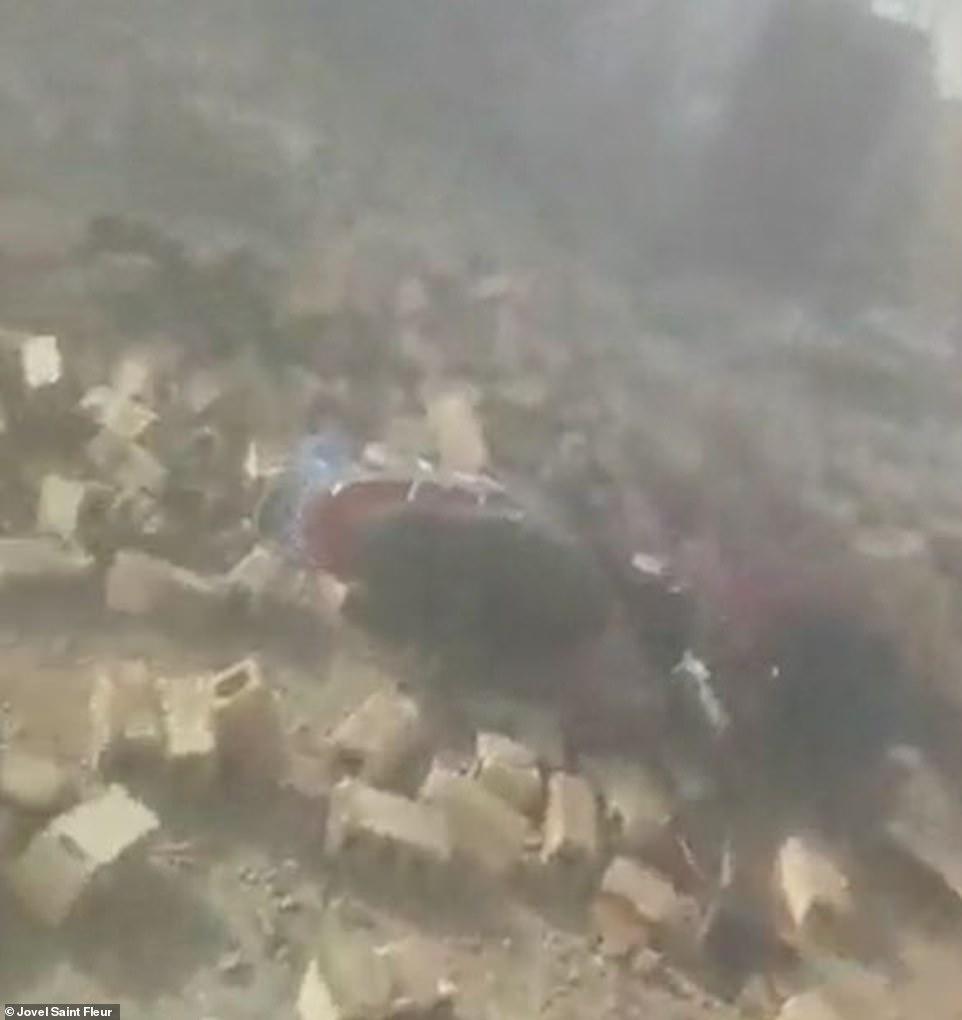 The earthquake rippled through Haiti at about 8.30am local time