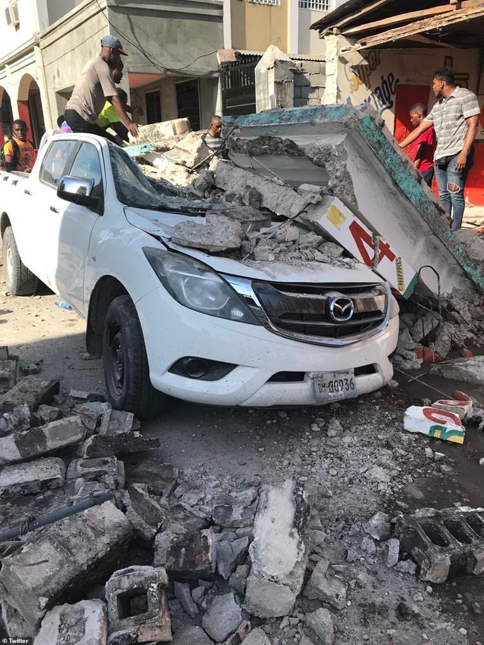 Photos circulating social media show the earthquake's damage, which was 0.2 stronger than the 2010 quake that killed 250,000 people and flattened swathes of buildings, leaving many homeless