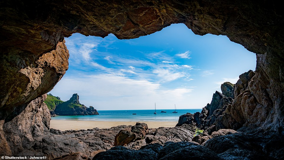 Nigel describes the island of Guernsey as a 'neat parcel of sandy beaches'. Pictured isPetit Port Cave