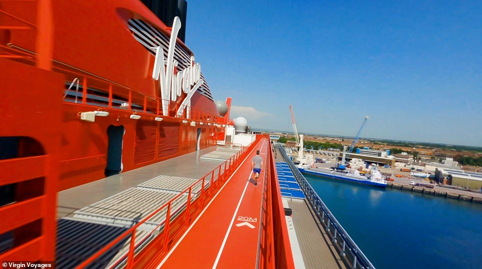 The cruise-liner, which is the first of four Virgin Voyages ships, is designed for the 'young at heart'