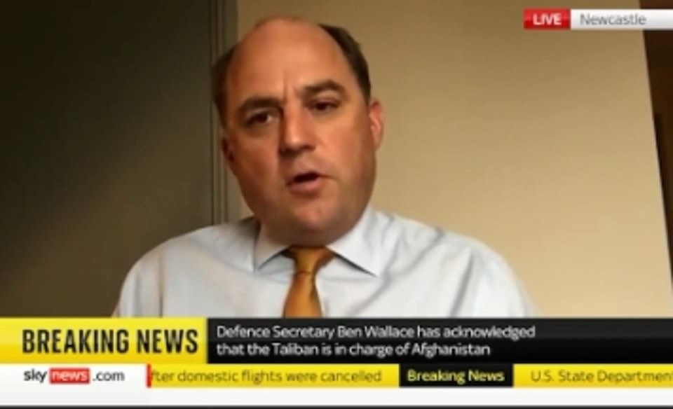 Defence Secretary Ben Wallace said the military side of Kabul airport was secure and that Britain was doing everything it could to evacuate British citizens and Afghans with links to Britain