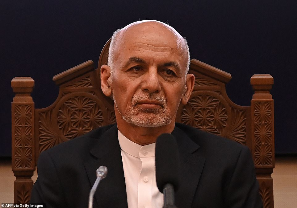 The Taliban swept into Kabul on Sunday after the US-backed government collapsed and Ashraf Ghani fled the country 'to avoid bloodshed', bringing the two-decade Western intervention to a climactic end