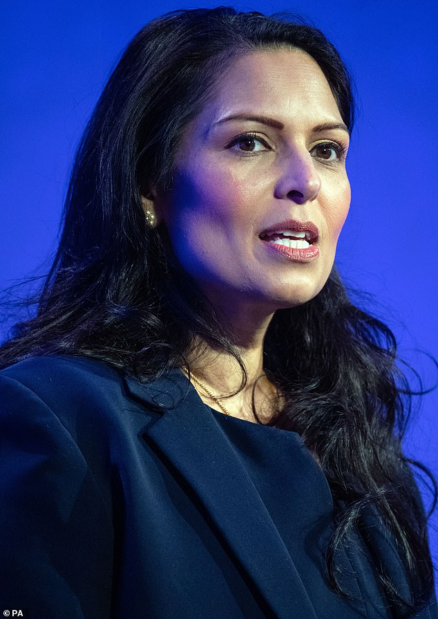 Home Secretary Priti Patel said the vetting process was 'vital' and that Home Office staff were working 'round the clock' to approve Afghans to come to the UK