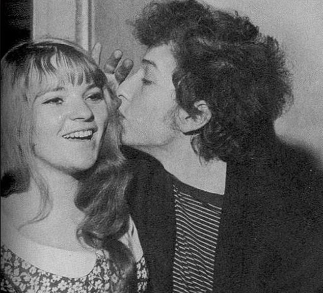 Singer who caught his eye: Singer-songwriter Bob Dylan pictured above with Dana Gillespie, who claims they had a fling when she was 16