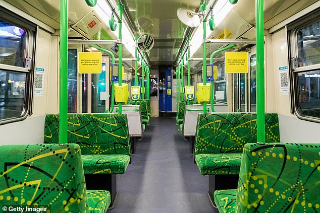 An empty tram is seen prior to curfew commencing on Tuesday night in Melbourne (pictured), with the harsh restrictions drawing condemnation from many overseas pundits