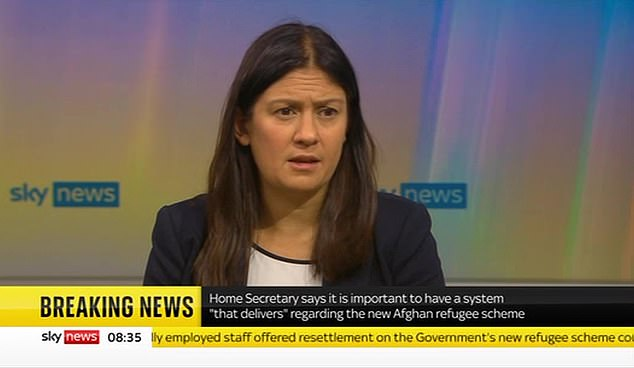 Shadow Foreign Secretary Ms Nandy appeared on Sky News moments after General Sir Nick and immediately admonished his comments