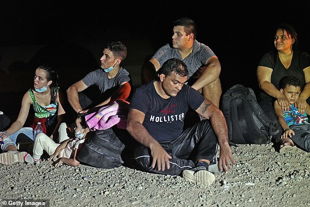 The move is meant to expedite claims at the border, as droves of migrants continue to flood into the United States. Here migrants attempting to cross into the U.S. from Mexico are detained byU.S. Customs and Border Protection in San Luis, Arizona