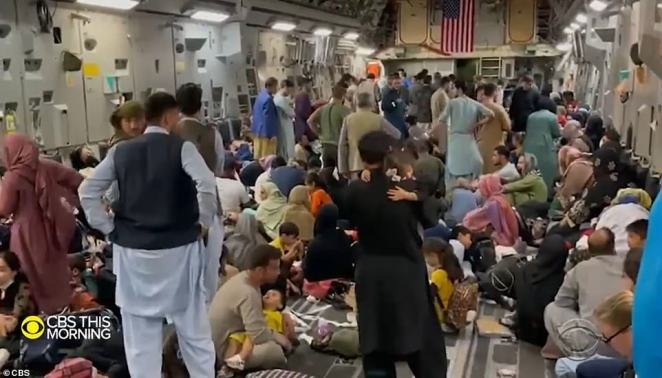 A CBS reporter was on board one of the US jets that took off on Tuesday night. She said there were 300 people on board - half the number that were removed on the same type of jet on Sunday