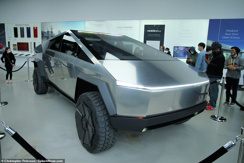 Crowds of New Yorkers gathered in the Tesla showroom in Manhattan earlier this year to see the Cybertruck prototype