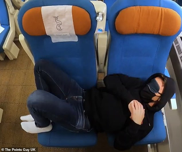 It was possible for Nicky to lay down - thanks to the'poor man's business class' technique