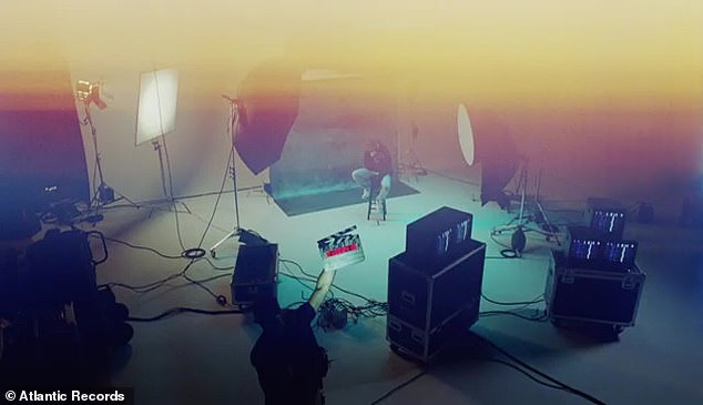 Massive:Despite varying backdrops and scenes, the entire music video is captured on a massive soundstage