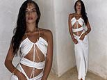 Shanina Shaik stuns as she shows off her incredible figure in a racy $990 cut-out dress in Tulum