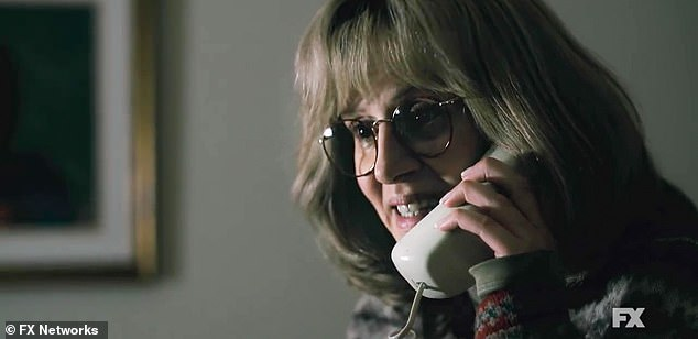 Later: Linda pleads on the telephone regarding her betrayal, 'Monica can never find out!!'
