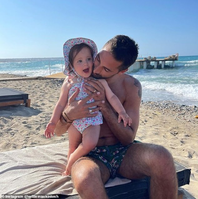 Uh oh!On Thursday, the mum-of-one candidly discussed struggling with their daughter's tantrums in an Instagram post. Pictured with husbandHugo Taylor, 35