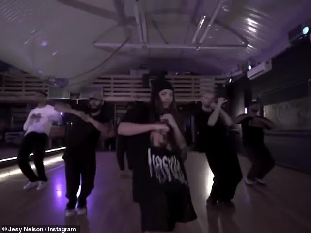 Move your body: Other clips feature the Wings hitmaker working in the studio or practicing routines with a group of male backing dancers