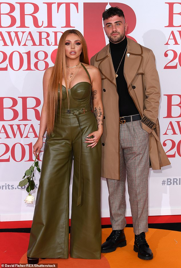 The interview comes just days after Jesy was spotted in Essex with her ex-boyfriend Harry James, who she dated for 16 months and split from in 2018 (pictured together in 2019)