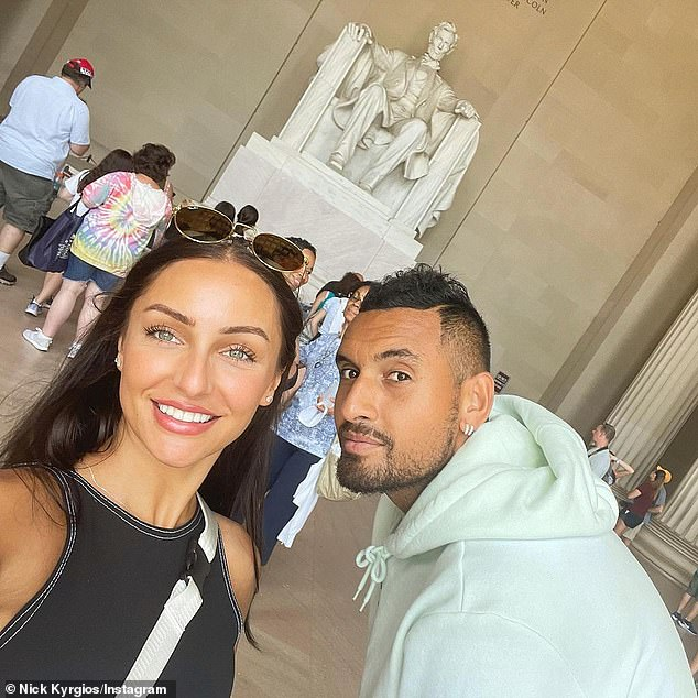 Together: Passari, who began dating Kyrgios in June last year, raised eyebrows in August when she uploaded - then deleted - a series of cryptic Instagram posts