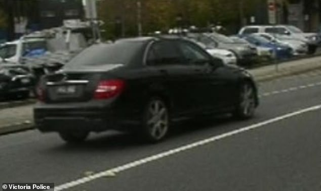 Police are desperately searching for this 2014 black Mercedes C200 sedan with registration BEQ 882