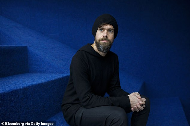 The share price fell back below $100 in May but climbed again on August 3 - from $96.66 to $127.85 in one day - after Twitter founder Jack Dorsey's (pictured) Square group announced it would be buying Afterpay