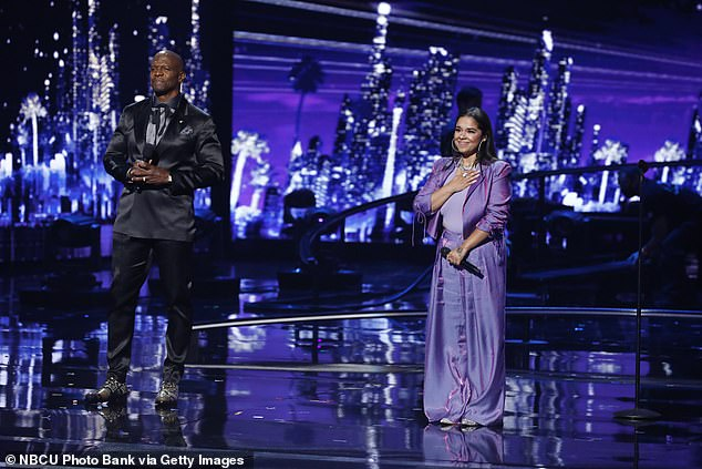 Cool song:Singer Brooke Simpson, from a Native American tribe in Hollister, North Carolina, roused the crowd by singing Lost Cause by Billie Eilish