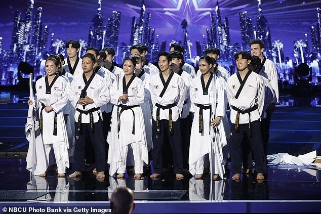 Last up:The World Taekwondo demonstration team finished the show