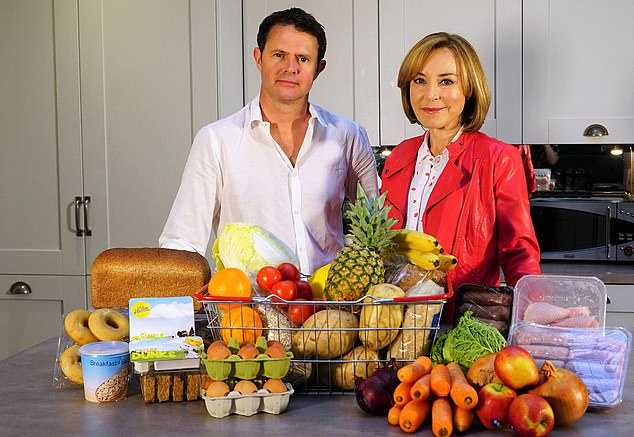 Stefan Gates is now a cookery TV star. Pictured, with Sian Williams onSecrets of your supermarket