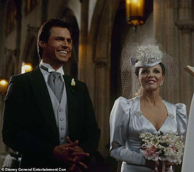 Man and wife:In 1983 he joined the cast of Dynasty. He played the dark-haired hunk who caught the eye of Alexis. He refused to be her boy toy and wanted a more serious relationship, but she resisted, until they finally wed