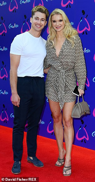 Couple: Former Strictly Come Dancing star AJ Pritchard attended the event alongside his girlfriend Abbie Quinnen