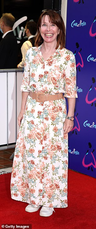 Show: Kay Burley appeared in good spirits on the red carpet where she wore a white midi dress with a floral print