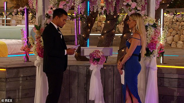 Location sorted:When asked whether there will be any references to Love Island when they tie the knot, Chloe announced: 'It¿s going to be at the Love Island villa I think!'