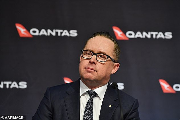 Qantas boss Alan Joyce. The airline said it expected to gradually bring back overseas flights once 80 per cent of the Australian population is vaccinated against Covid-19