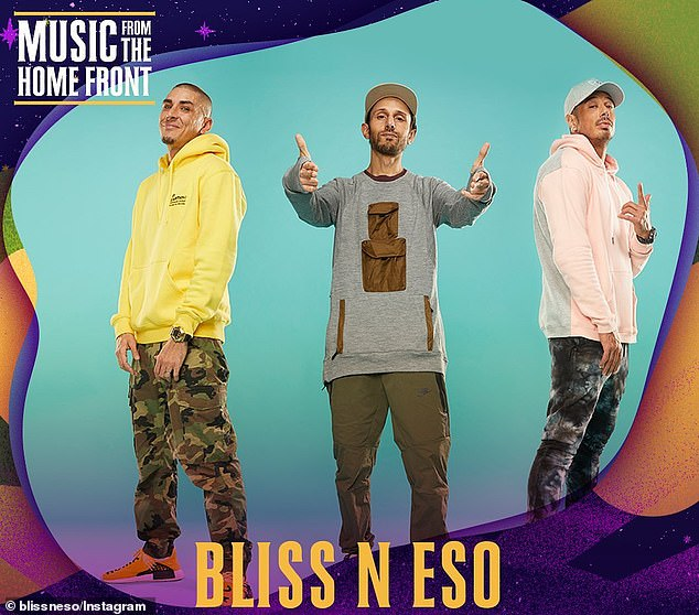 Significant: Bliss N Eso were finishing off their seventh album, titled The Sun, when they received the news of his sudden death.The award-winning trio have dedicated the release to Gudinski's memory