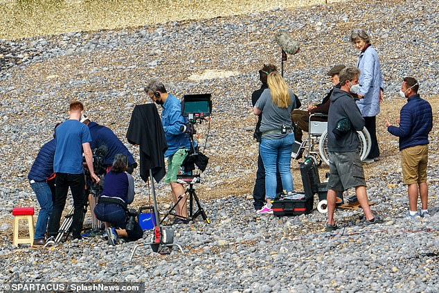 And action! The successful actor described himself as 'one of the old codgers' and had one scene with Harry Styles