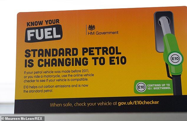 Filling stations have been displaying posters at their forecourts and handing out flyers to drivers to inform them about the switch from E5 to E10 petrol from 1 September