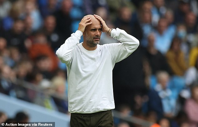 Ronaldo's agent is in talks with Pep Guardiola's (above) Man City over a shock late move