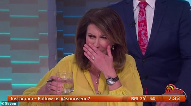 Scare: A Sunrise crew member has tested positive for Covid after working three days in the breakfast show's studios and is a 'close contact' of pregnant newsreader Edwina Bartholomew