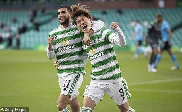 Japanese winger Kyogo Furuhashi has scored seven goals in his last seven games for Celtic